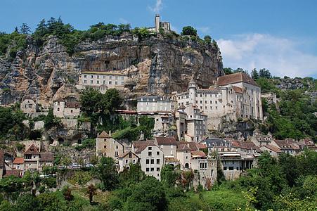 landscape photography of village