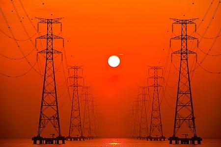 silhouette photo of network post screenshot