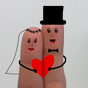 two finger with emoticon photo
