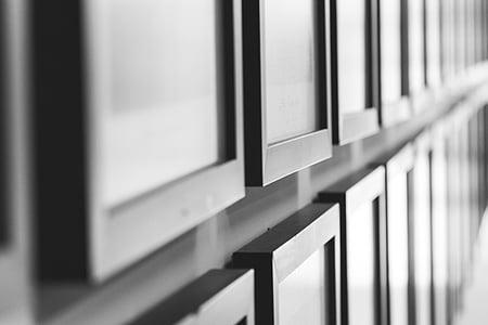 black wooden photo frames