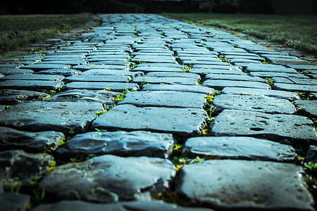 closeup photo of gray concrete pathway