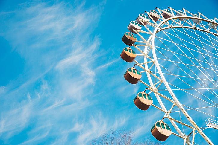 Ferris wheel photography during daylight