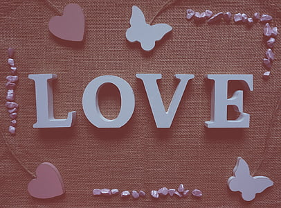 Love free standing letter decor