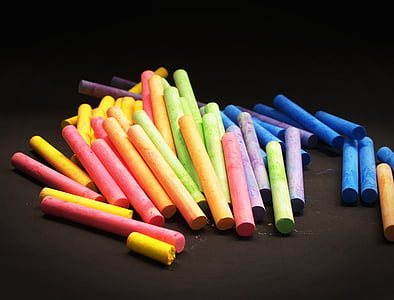 assorted-color chalk lot