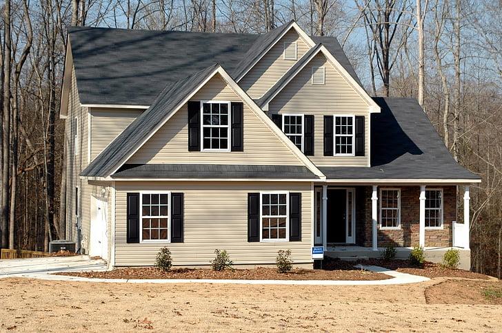 2-storey house landscape photograph