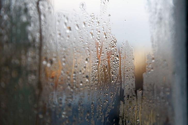 cristal, mood, rain, rain water drops, wet, wet glass