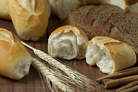wheat next to wheat breads