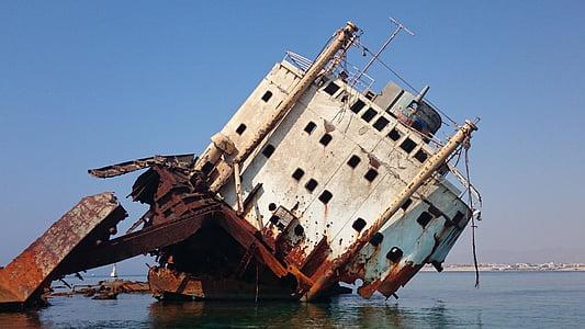 shipwrecked ship vessel