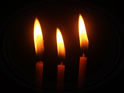 three candlelights