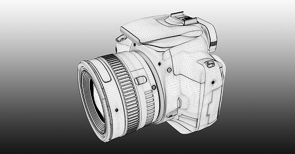 photo of DSLR camera sketch
