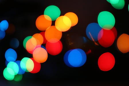 red, teal, orange, and blue bokeh photography