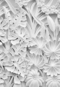 illustration of white leaves