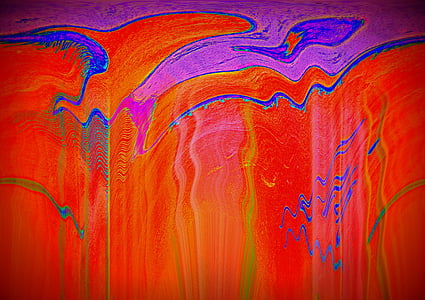 purple and red fluid abstract painting