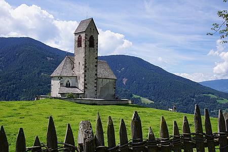 gray chapel on mountain photography