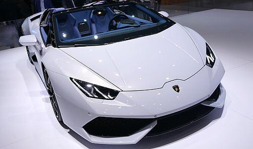 white Lamborghini Aveeno