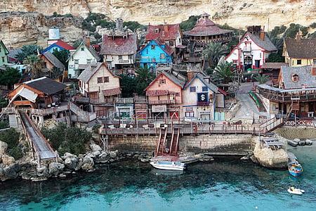 seaside town during daytime