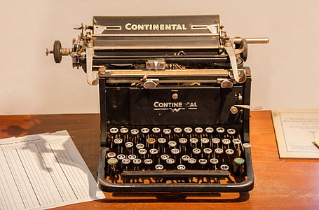 black and gray CONTINENTAL typewriter