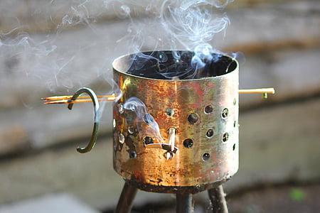 incense box with smoke