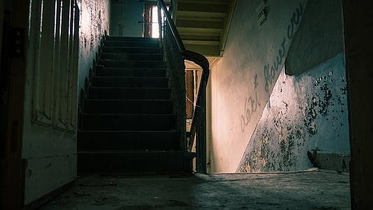 concrete steps on room