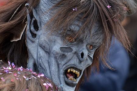 gray monster mask