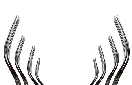 eight silver forks