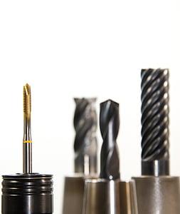 several drill bits