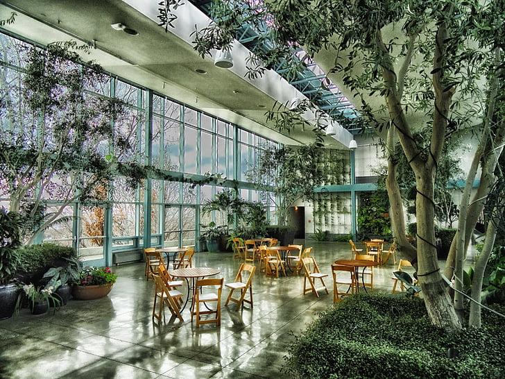 photo of dining area on hallway near window and trees