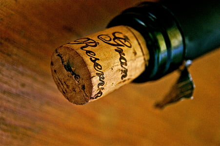 close-up photo bottle with cork