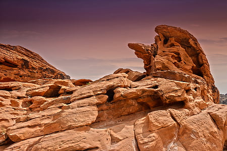 photograph of rock formation
