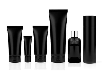 black soft tubes on white surface