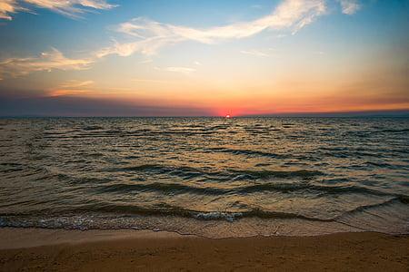 calm ocean during sunset