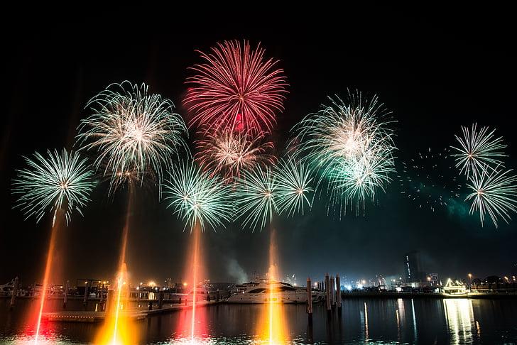 photo of firecrackers in sky