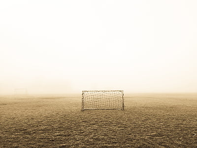 brown soccer goal