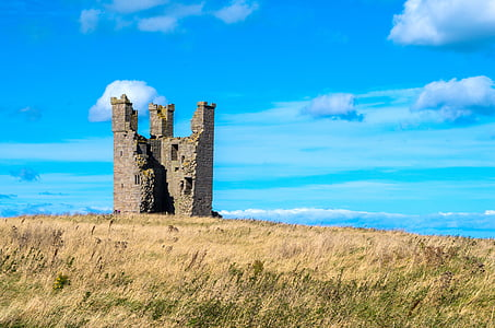 gray concrete castle in field during daytime