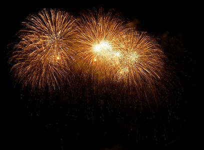 fireworks exploding at sky