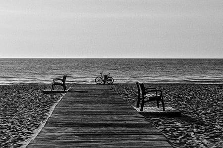 bicycle near seashore