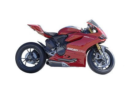 red Ducati Corse sports bike