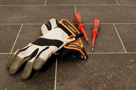 two white gloves