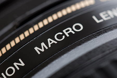 closeup photography of black Macro camera lens