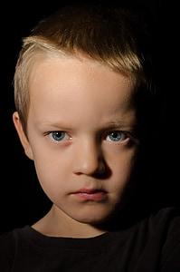boy wearing black top