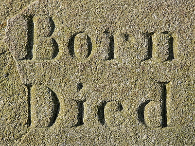 brown sand with Born Died-printed