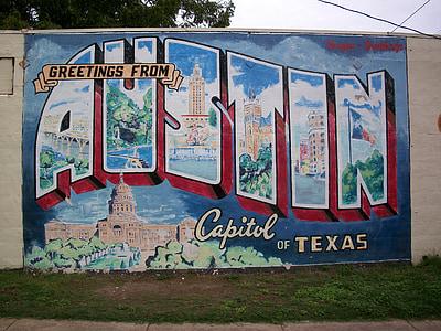 Greetings From Capitol Of Texas graffiti
