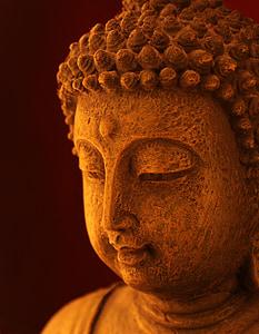 close-up photo of Gautama Buddha statue