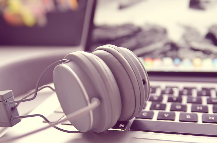 headphones on MacBook