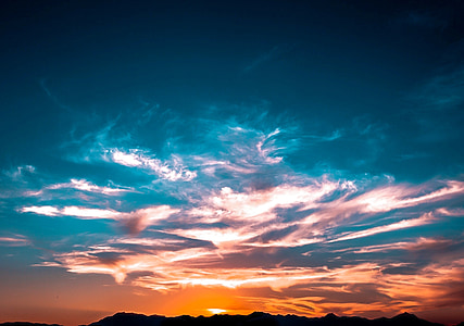landscape photo of sunset