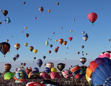 photo of hot air balloons lot