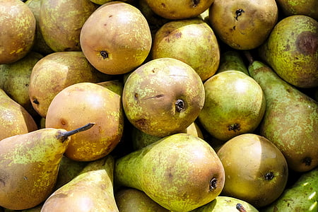 green and brown frutis