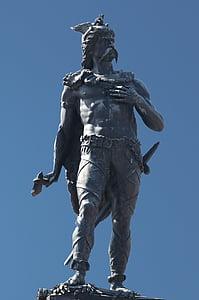 ambiorix, statue, tongeren, celtic king, eburonen, leader