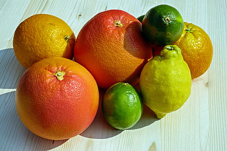 top view photo of fruits