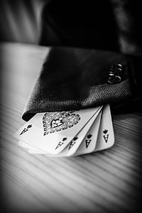 4 ace of spades playing cards